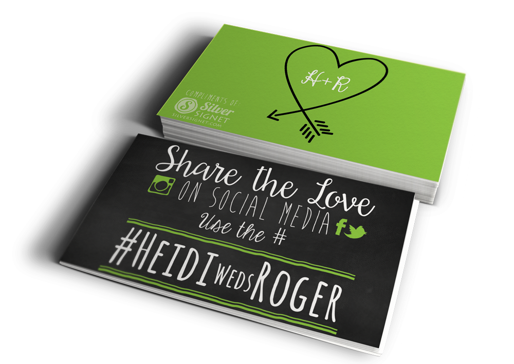 Hashtag Wedding Cards